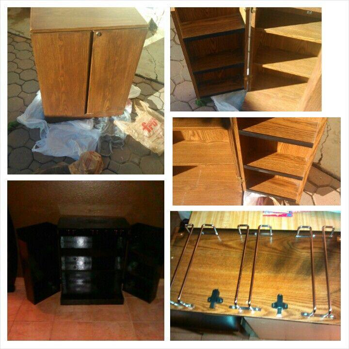 Storage cabinet turned into a Mini Bar