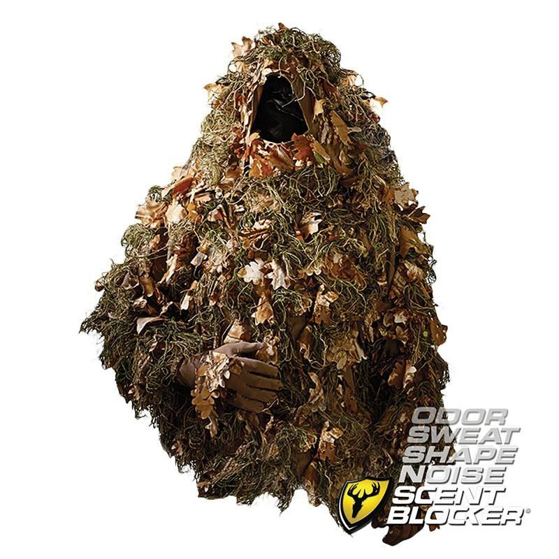 7cf265d4e1803 3D leaves Scent Blocker Ghillie Suit - The Beast Ghillie Suit Jacket -  Gloves Included
