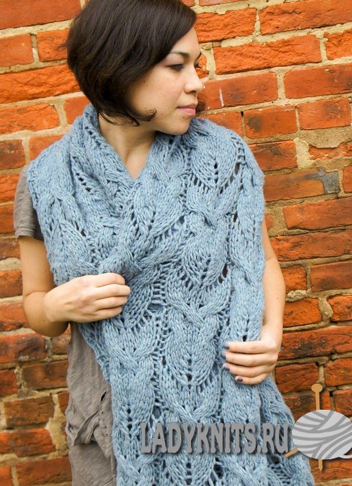 Вязание спицами модные шарфы