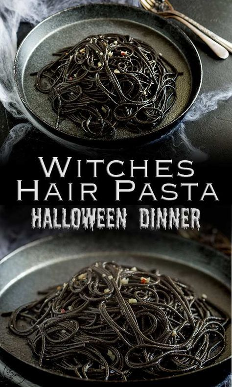 Witches Hair Pasta - A Great Halloween Spaghetti | Sprinkles and Sprouts