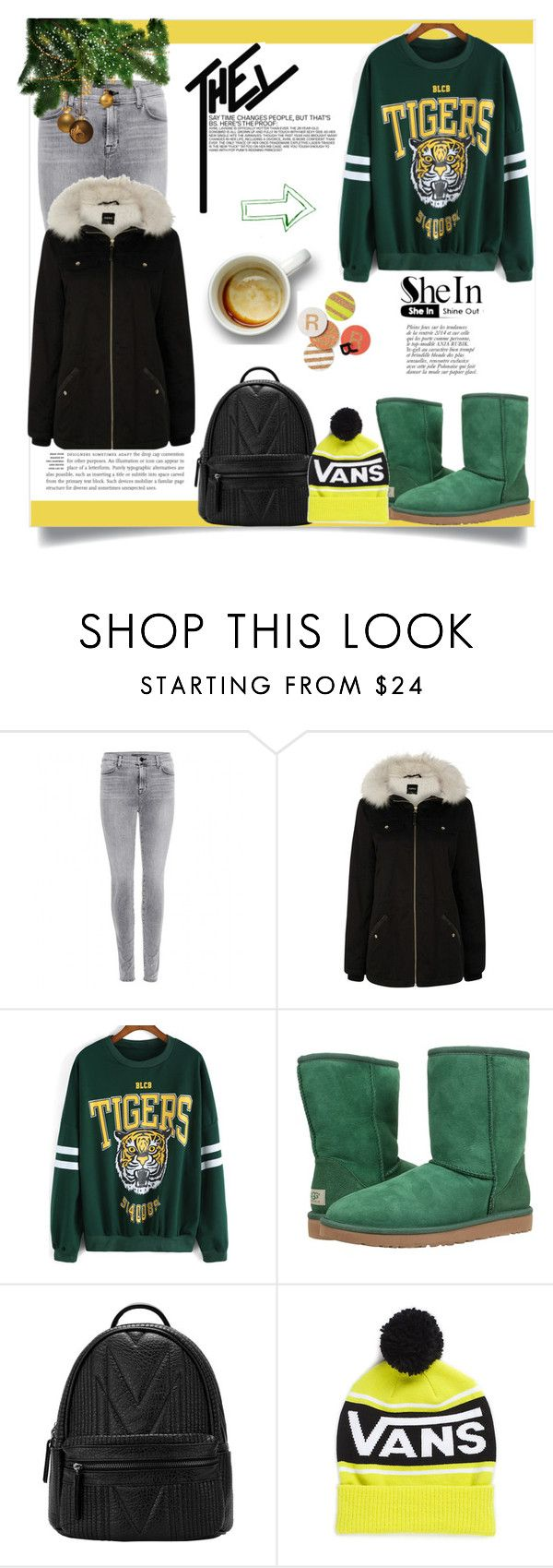 """Sweatshirt(SheIn)"" by pamra1 ❤ liked on Polyvore featuring J Brand, Oasis, UGG Australia, Vans, Hostess, Anja and shein"