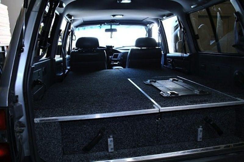 Land Cruiser Custom Drawer System With Sleeping Platform Via The Adventure Duo Land Cruiser Toyota Land Cruiser Land Cruiser 80