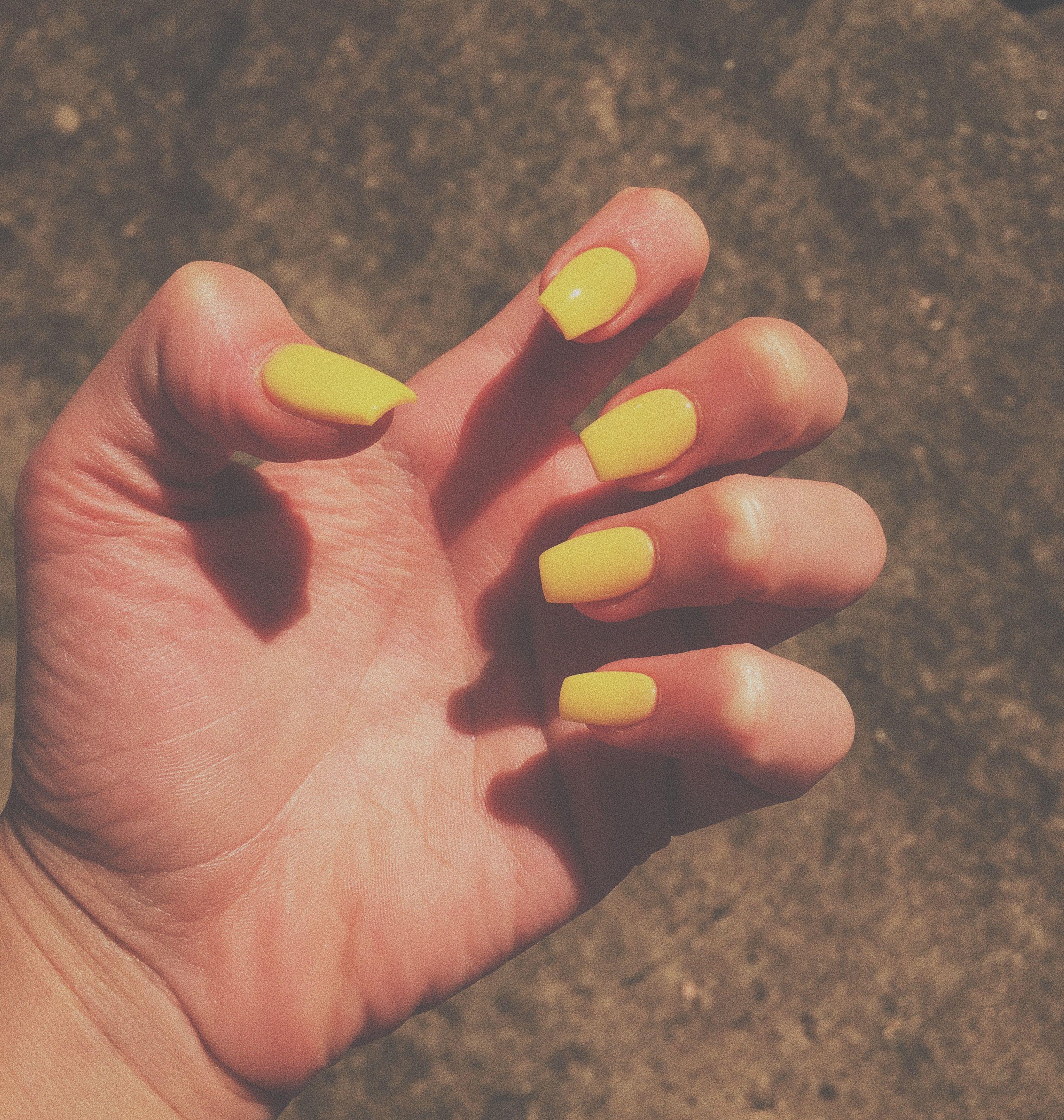 Cute Short Yellow Nails Yellow Nails Nails Nail Art