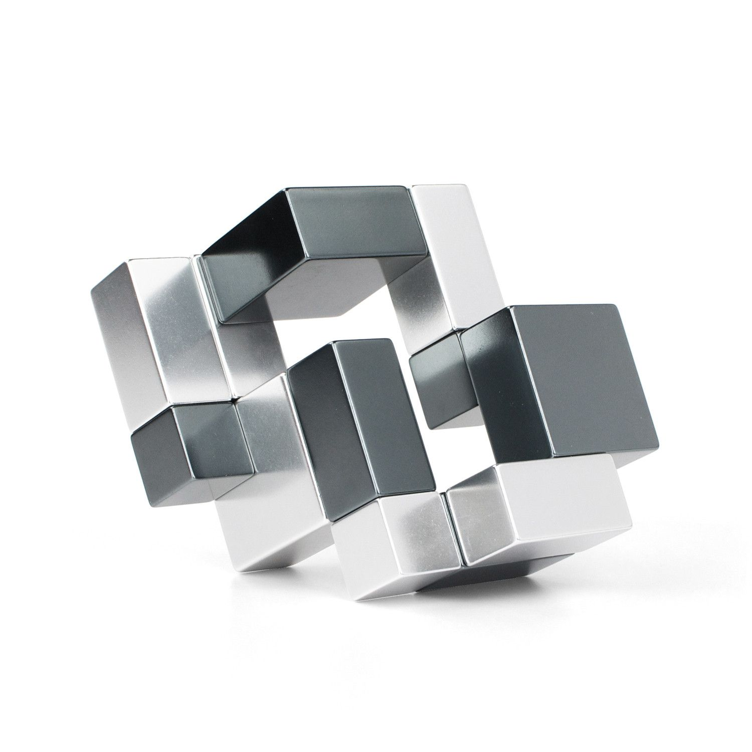 PlayableART: Metal Cube // Silver + Iron Gray