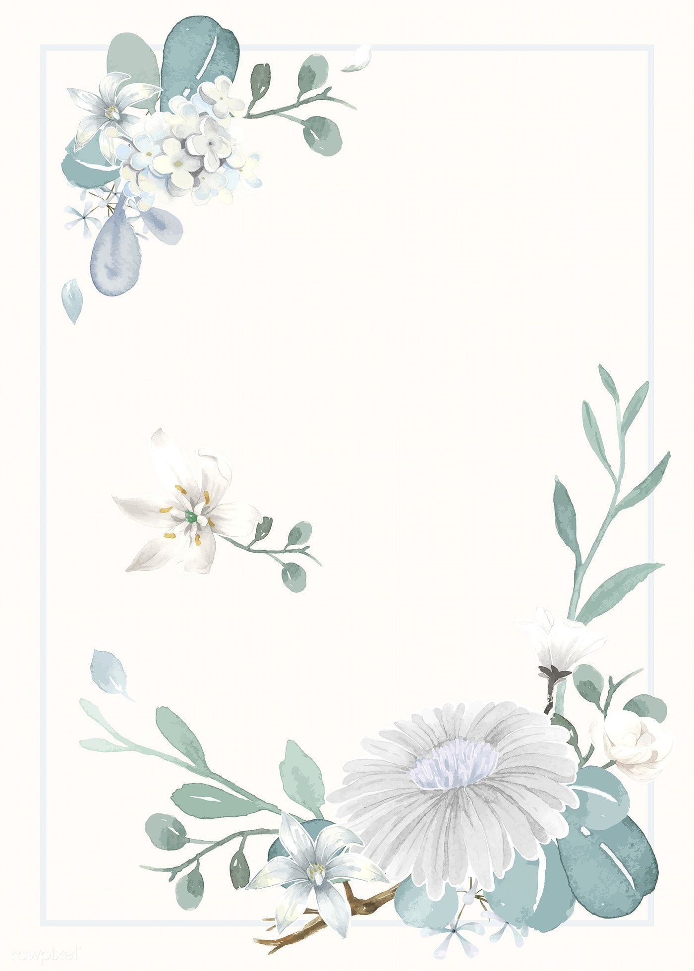 Download Premium Vector Of Invitation Card With A Light Blue