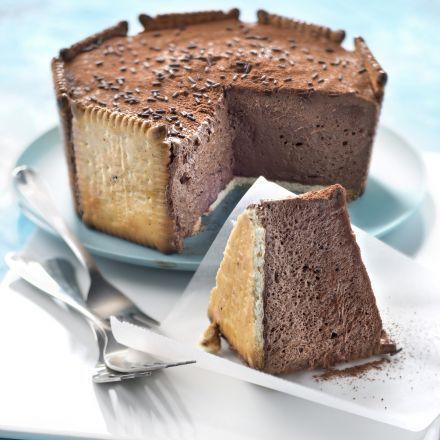 charlotte au chocolat et véritable petit beurre lu® | cuisine