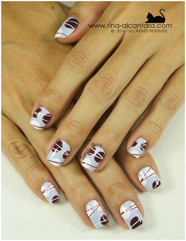 Nail Art: For the Love of Abstract (Simply Rins) | Abstract nail art ...