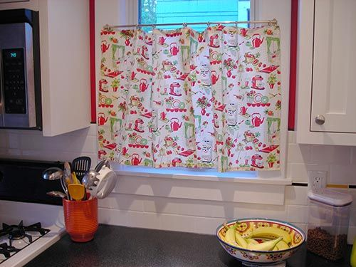 Awesome Vintage Kitchen Curtains | ... Daveu0027s Charming Vintage Bungalow Kitchen  Remodel   Retro Renovation