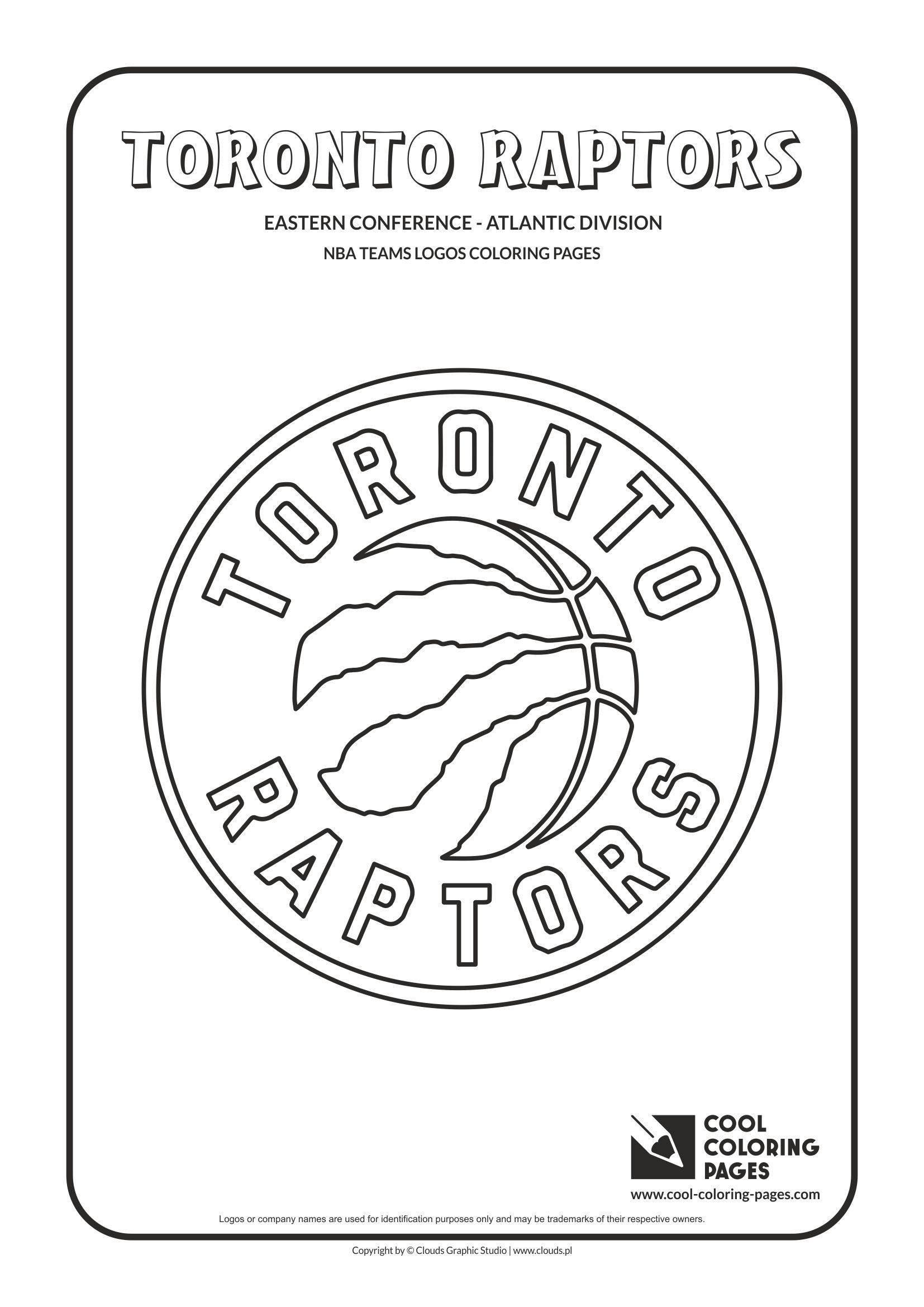 Cool Coloring Pages Nba Basketball Clubs Logos Eastern Conference Atlantic Division Toronto Raptors Logo Cool Coloring Pages Raptors Toronto Raptors