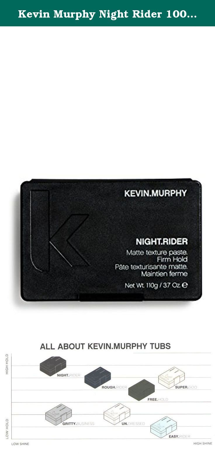 Kevin Murphy Night Rider 100g 3 4oz How To Use Rub A Small Amount Between Palms And Distribute Evenly Through Da Paraben Free Products Dry Hair Kevin Murphy