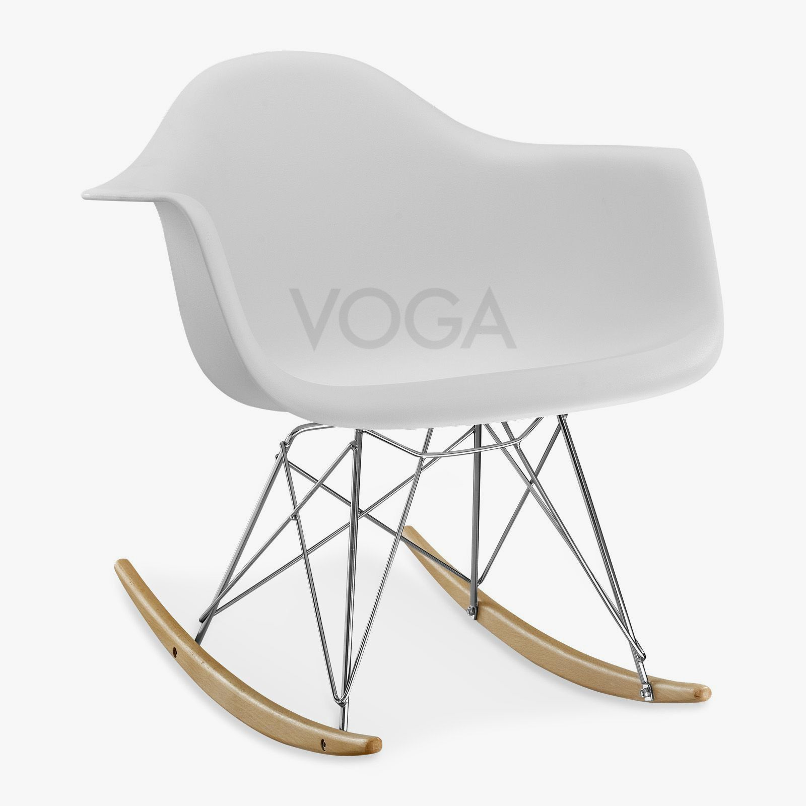 eames rar rocker in glänzendem fiberglas oder mattem plastik ... - Chaise A Bascule Charles Eames