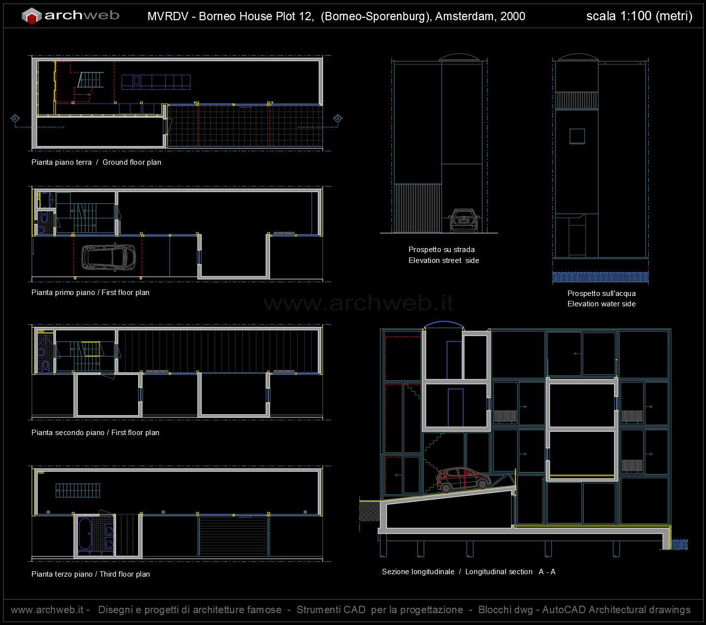 Borneo House Plot 12 Sporenburg Amsterdam 1999 Mvrdv Technical Structural Diagram Of Double Mansard Roof And Glazing Infill Archweb