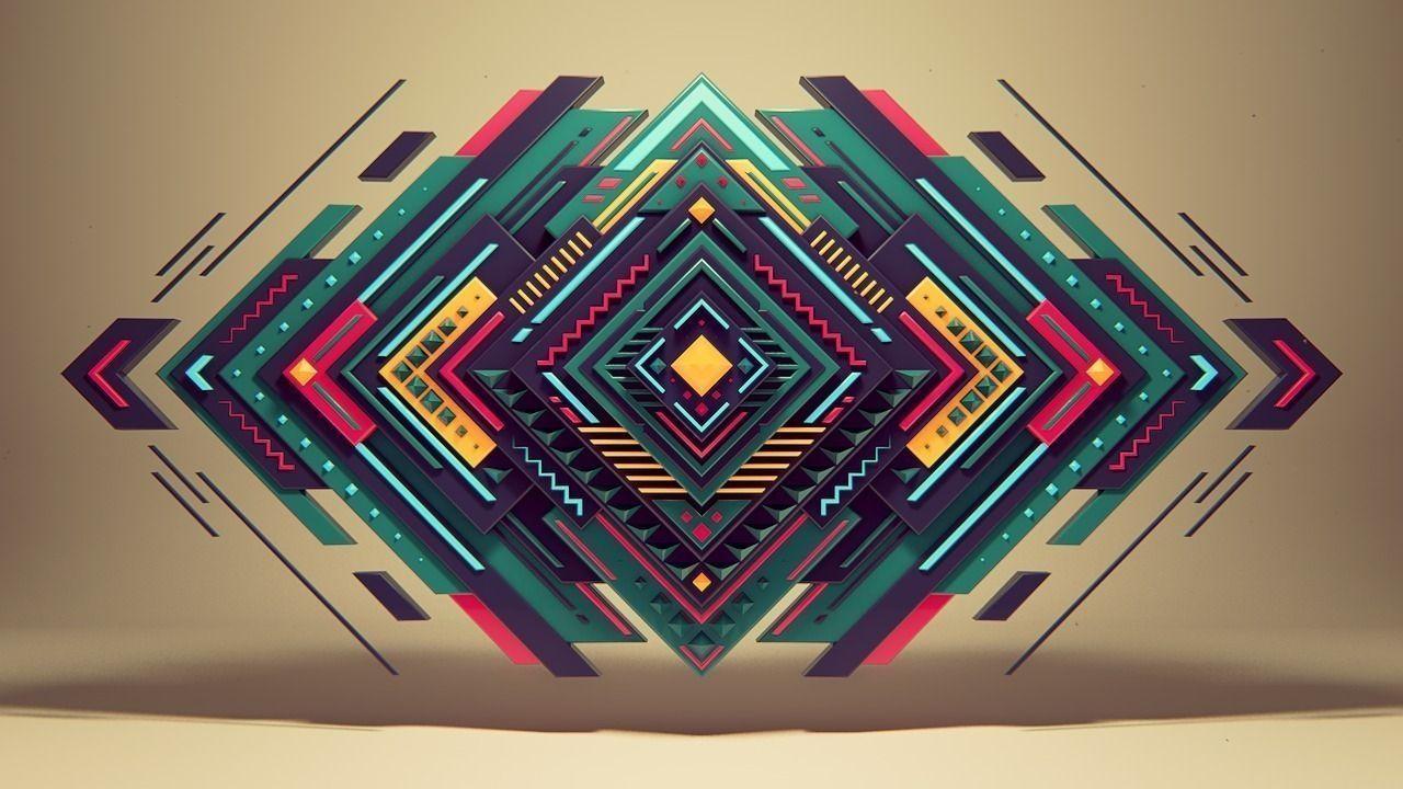 Pure Geometry 3d Model C4d 2 Geometric Shapes Wallpaper Abstract Wallpaper Geometric Wallpaper