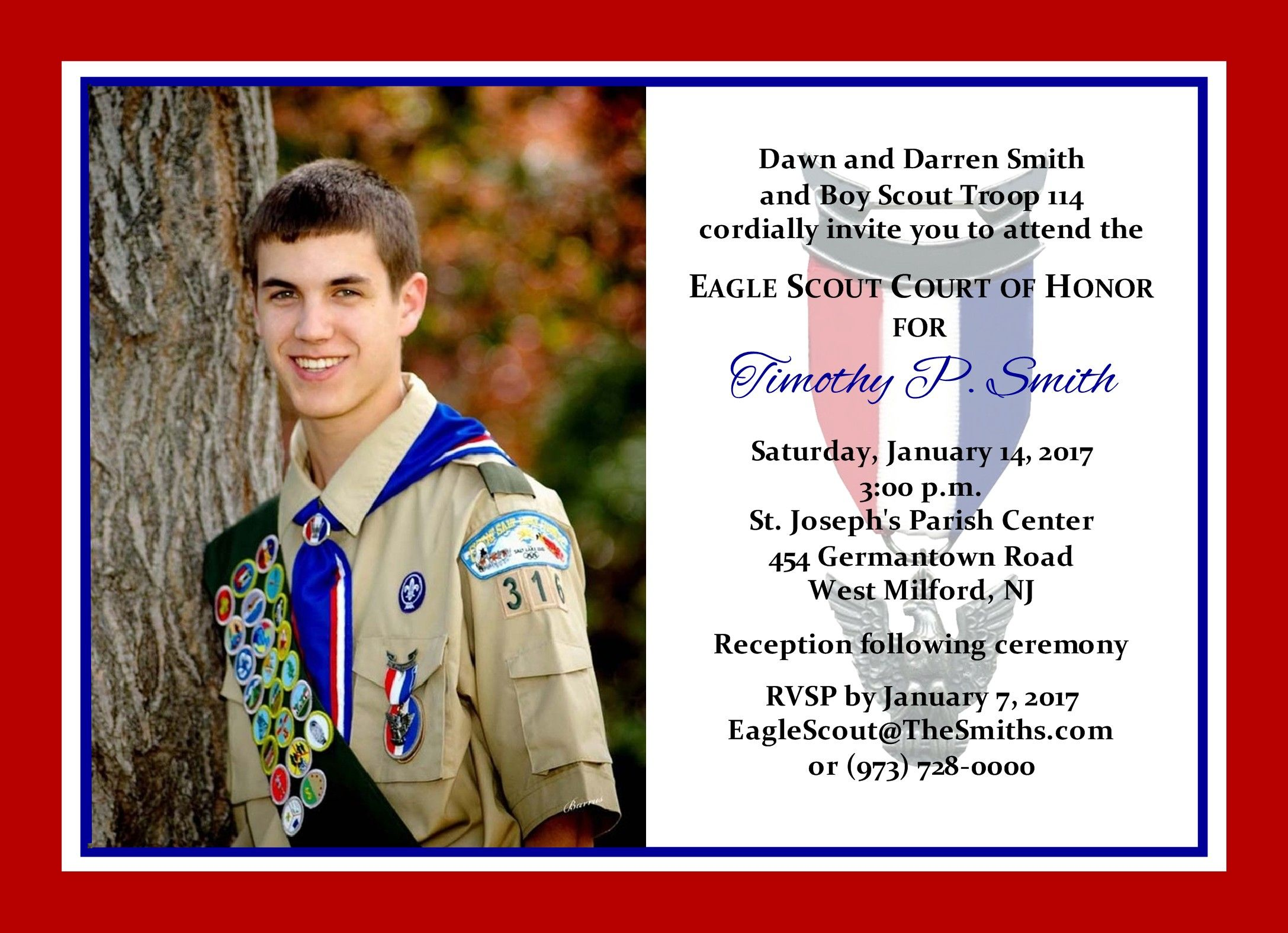 Eagle Scout Court Of Free Template Ceremony Invitation