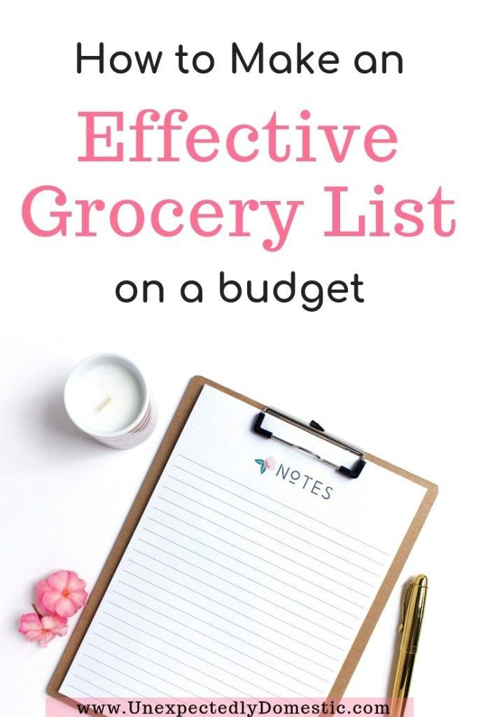 how to make a cheap grocery list  a step