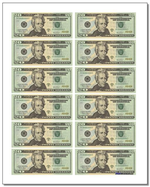 Canny image within printable play money $100