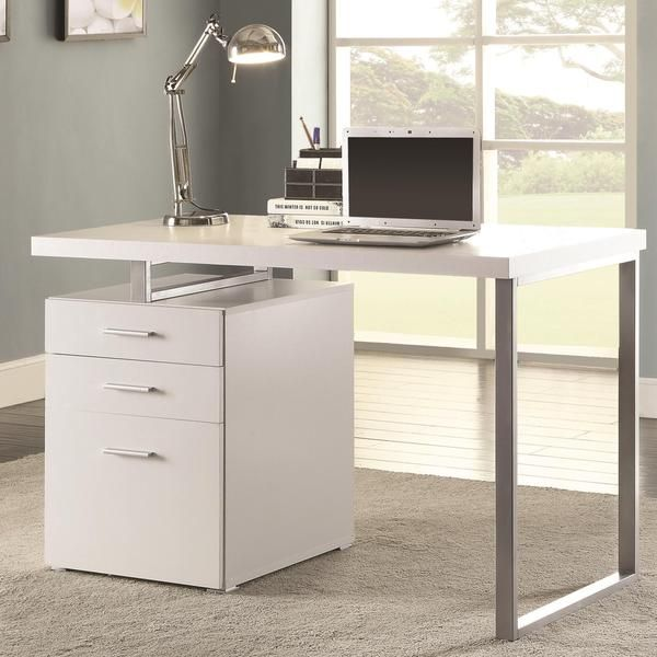 Modern Design Home Office White Writing Computer Desk With