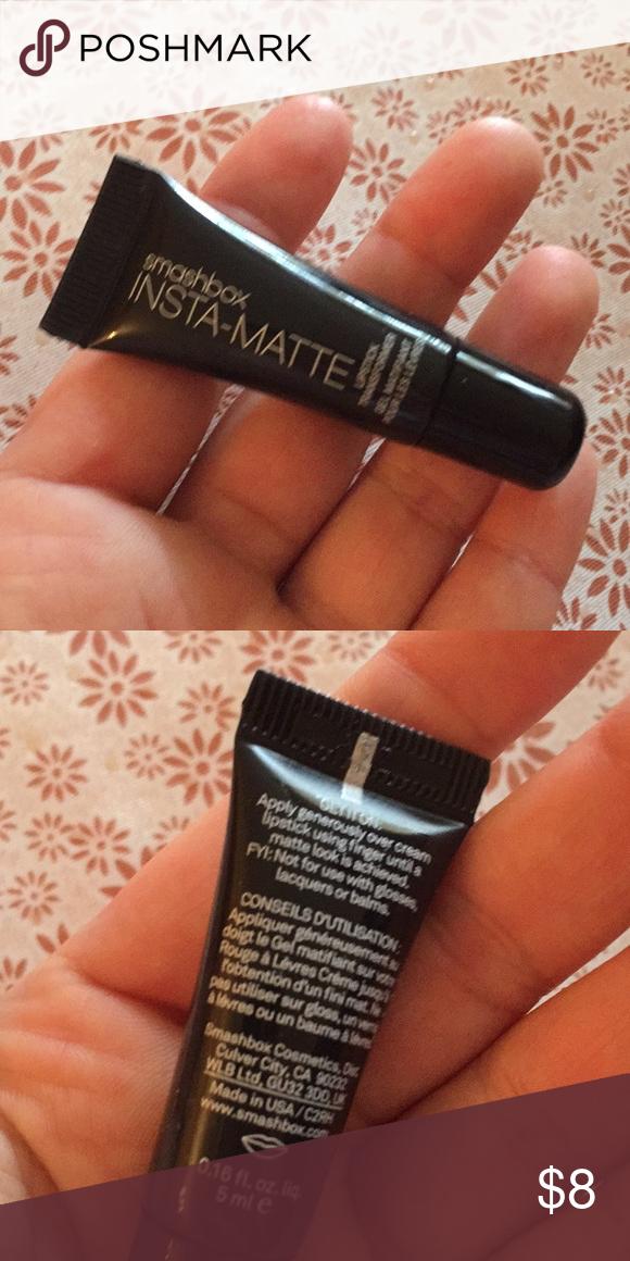 Photo of Smashbox insta matte lipstick mattifier Never used new. Travel size. Transforms …