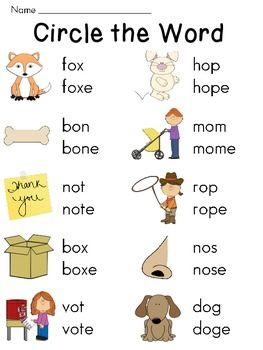 Silent E Worksheets For Long Vowel And Short By Miss Giraffe Teachers Pay Teachers Kindergarten Reading Worksheets Phonics Kindergarten English Phonics Silent e worksheets for kindergarten