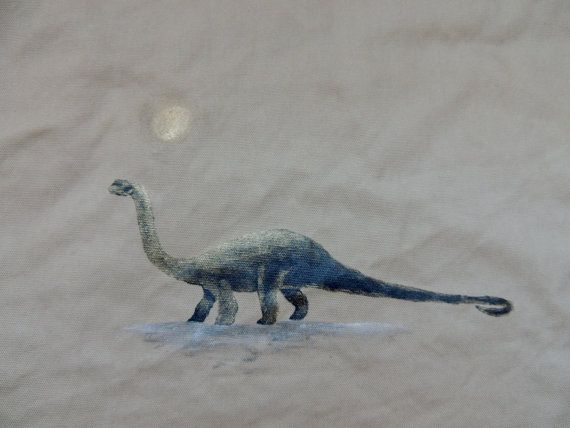 Hand Painted Diplodocus Tan by CentreBrune on Etsy