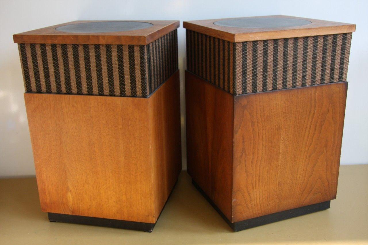 vintage harman kardon hk 50 speakers stereophonic sound. Black Bedroom Furniture Sets. Home Design Ideas