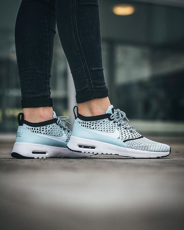 the best attitude 769df edaed Nike Wmns Air Max Thea Ultra Flyknit  Glacier Blue White