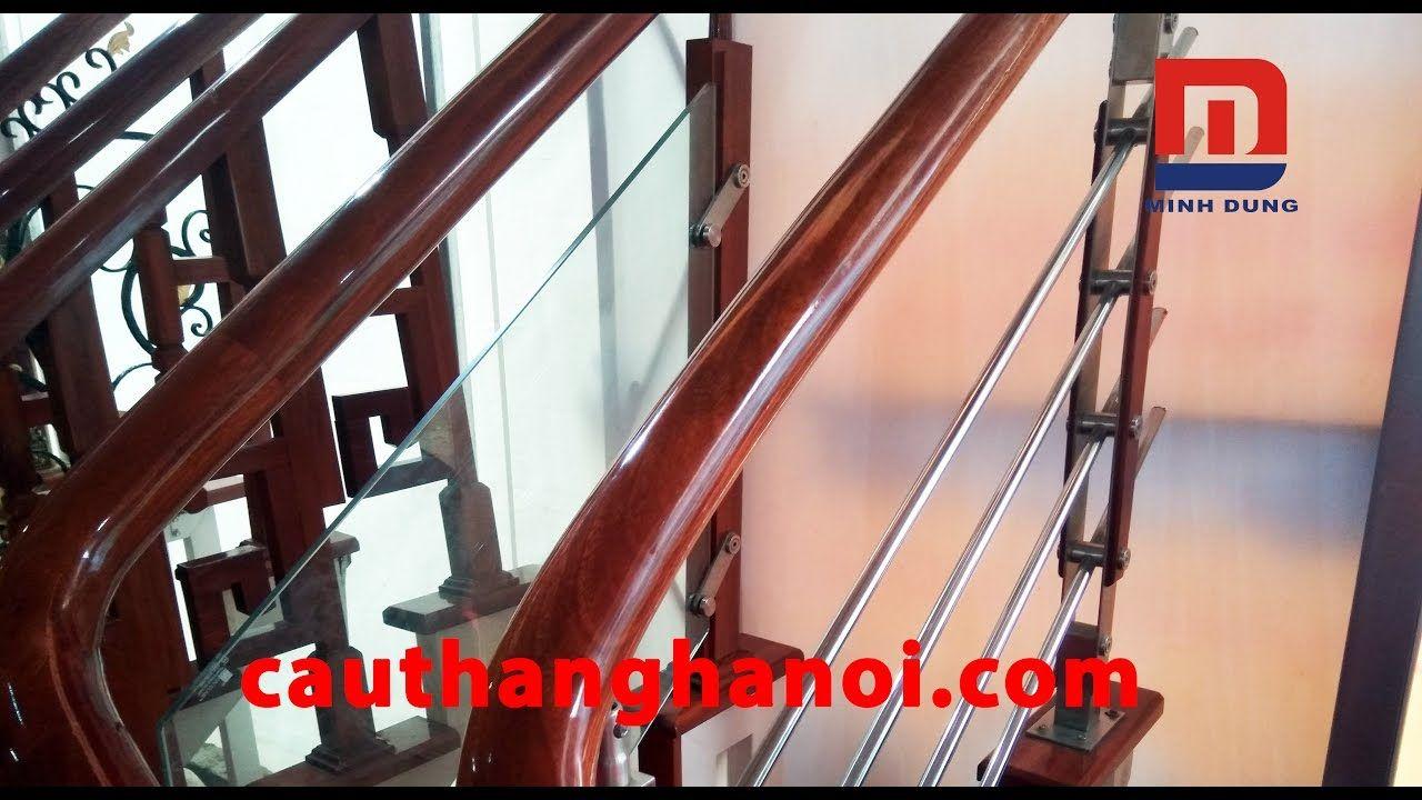 Tất cả các mẫu cầu thang kính sắt inox gỗ đẹp nhất và hot nhất 2017