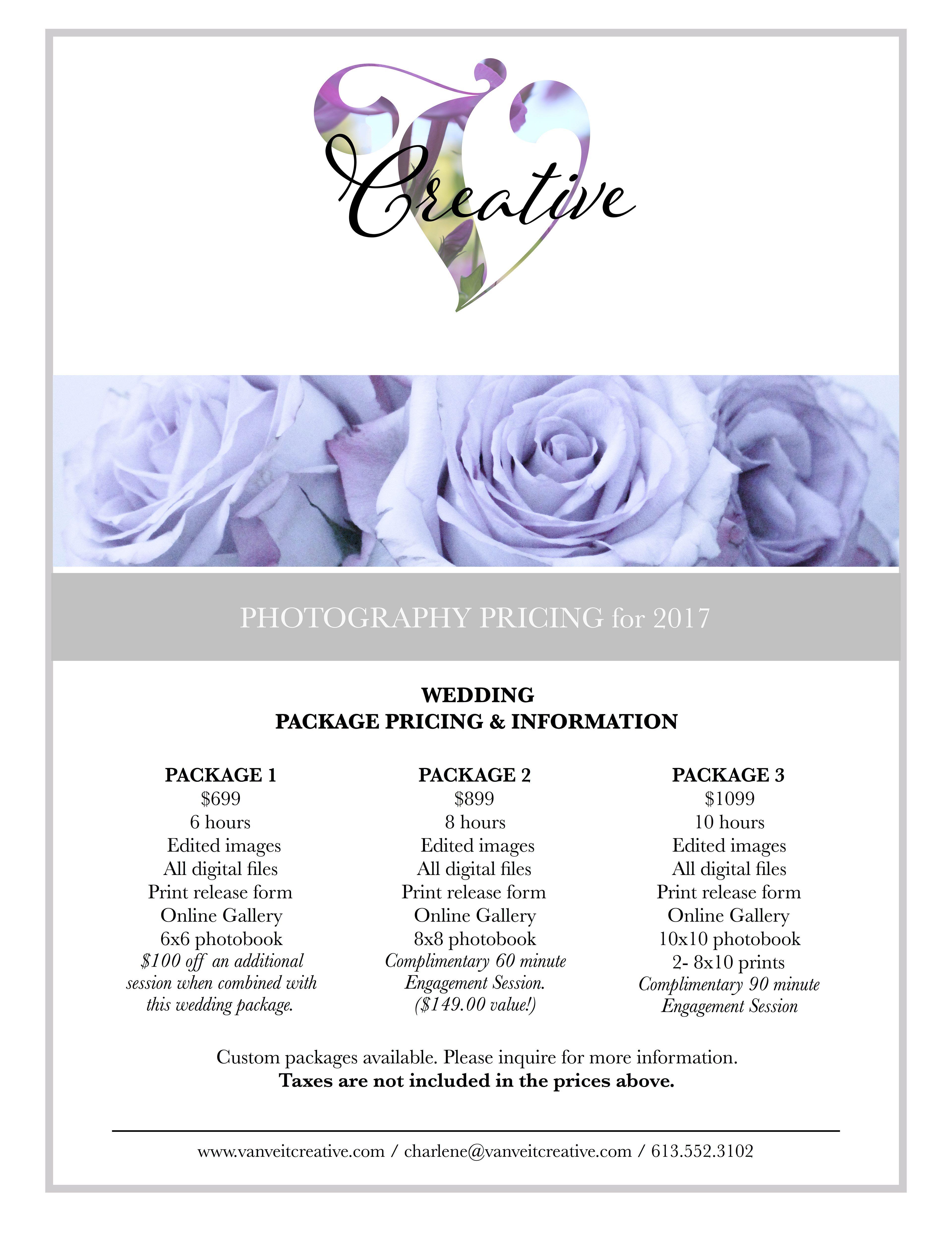 Wedding Photography Pricing Templates Van Veit Creative Wedding Photography Pricing Photography Pricing Wedding Photography Tips