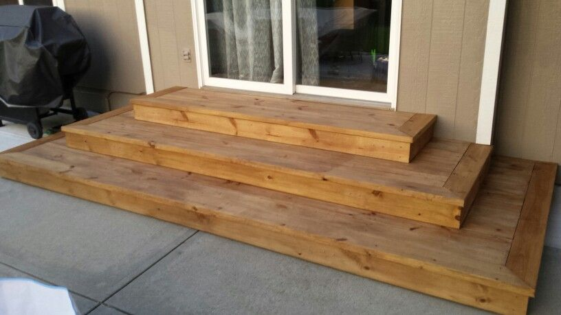 Best Wide Tread Wood Steps Wood Steps Outdoor Wood Steps 640 x 480