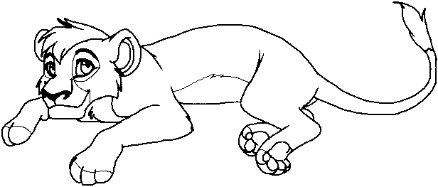 Kovu Break Lion King Coloring Pages Pinterest