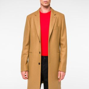 Cashmere Men's Smith Wool Paul Overcoat Camel 1BvxUwTUqA