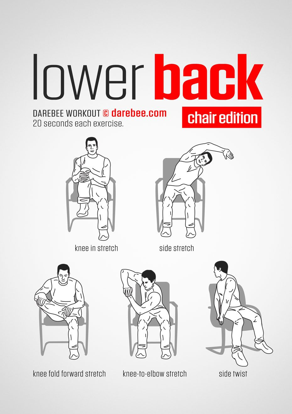 Office Chair Exercises Acutouch Massage Lower Back Workout Www Bacrac Co Uk Fitness Pinterest Exercise And