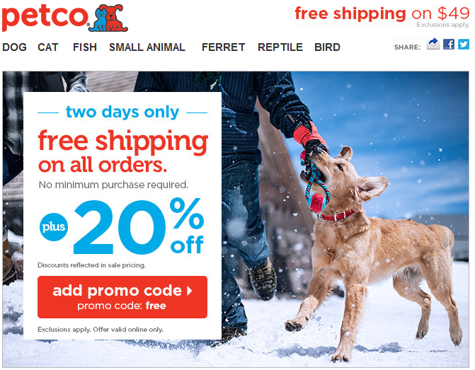 Petco Free Shipping 20 Off With Code Petco Small Pets Pet Store