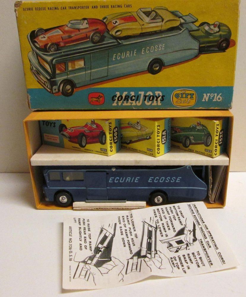 Corgi Toys Gift Set 16 Ecurie Ecosse Racing Car Transporter & 3 Cars