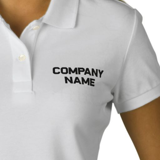 Add Your Company Business Name Embroidered Shirt T Shirts