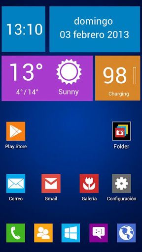 Next Launcher Theme Wintiles 8 V2 0 Requirements Android O S