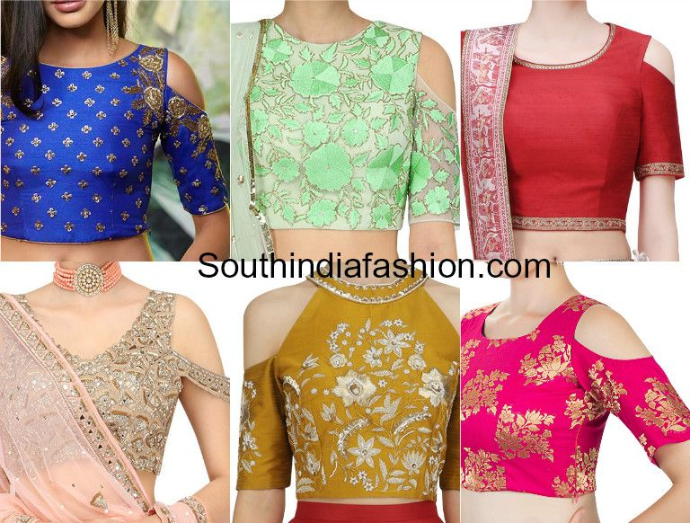 9 Latest Cold Shoulder Crop Top Designs South India Fashion Blouse Tops Designs Crop Top Designs Cold Shoulder Blouse Designs