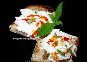 MomGateway: Portal to Easy and Healthy Recipes: Amazing Chevre Crostini