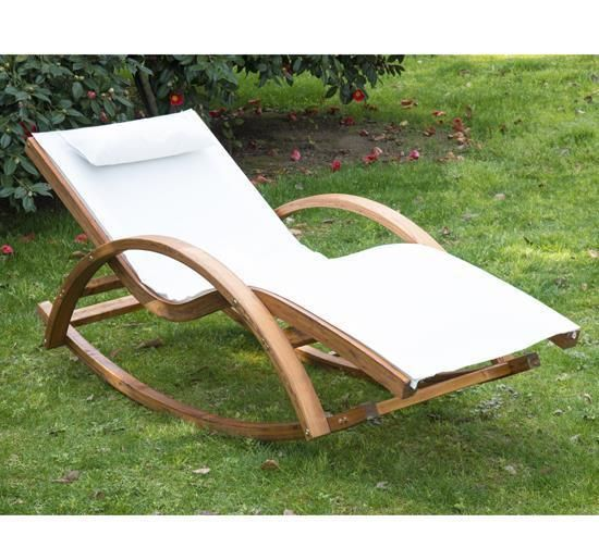 Garden Patio Lounger Sunbed Rocking Chair Pool Armrest Reclining