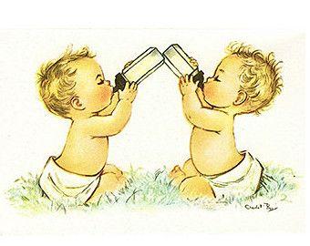 Image Result For Vintage Baby Boy Card