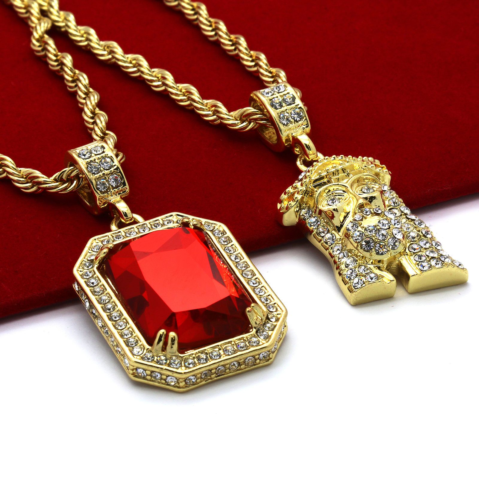 """14k Gold Plated High Fashion Cross /""""012/"""" Pendant 24/"""" Inch Figaro Chain Necklace"""