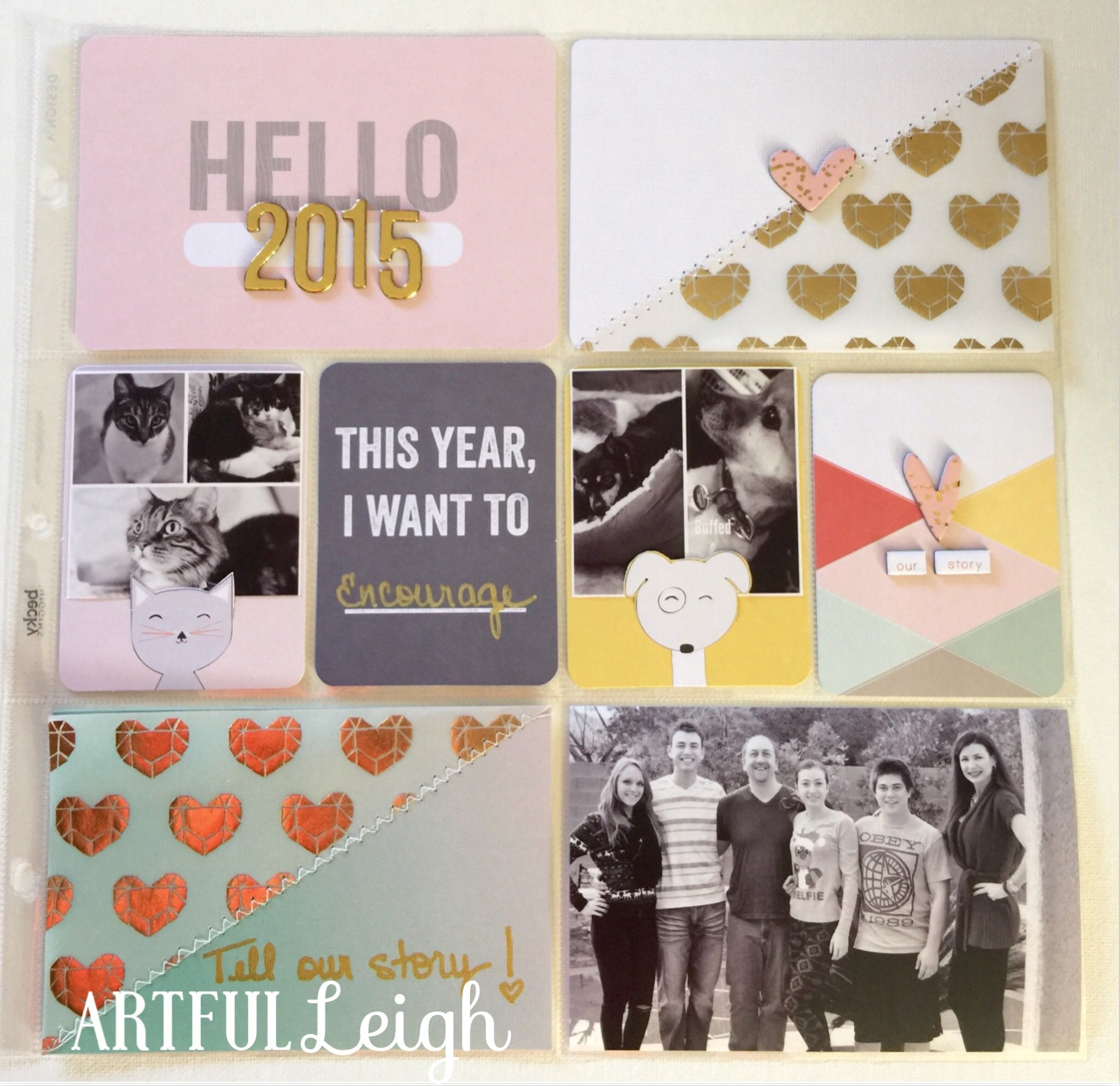 Using Project Life to document the story of our family in 2015, Artful Leigh