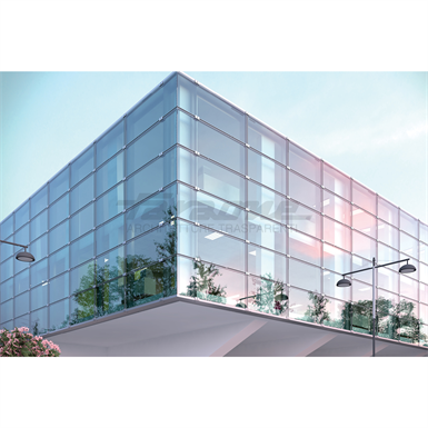 Klima Facade With Stratified Glass Facade Glass Curtain