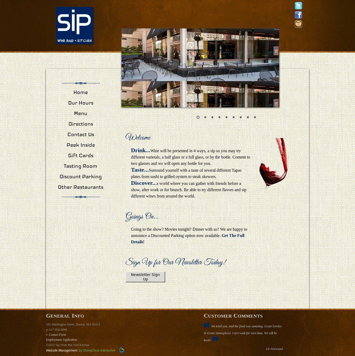 Wordpress Site Sipwinebarandkitchen Com Uses The Different Wines Tasting Room Wordpress Theme