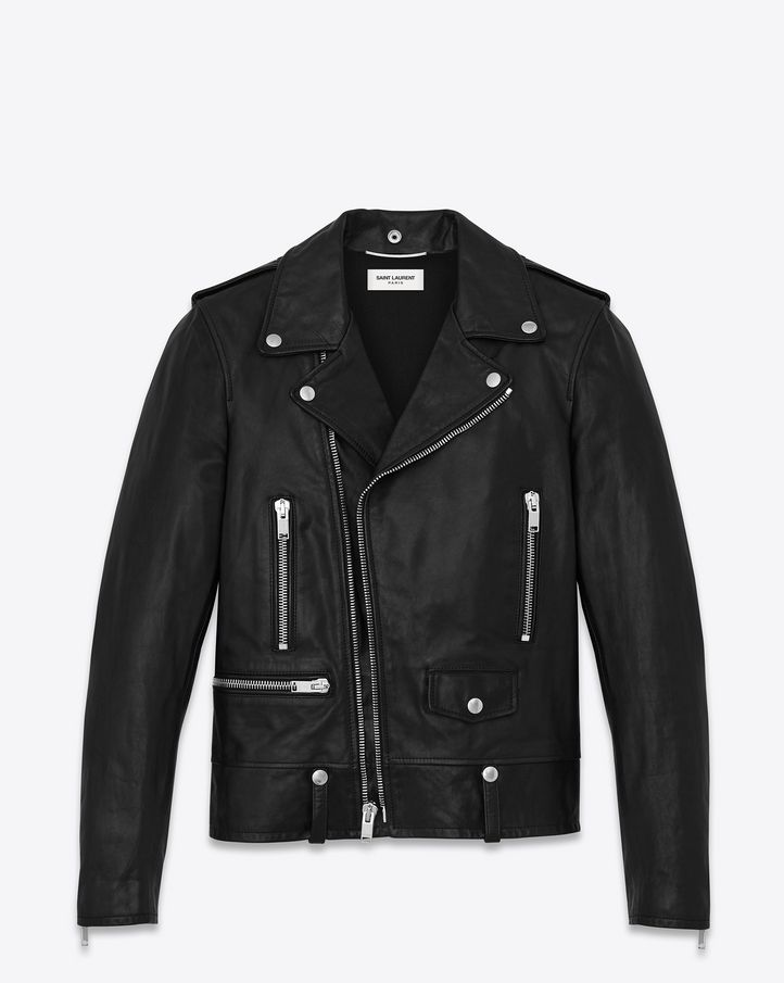 fb2a83d1c Saint Laurent L01 in Washed Calf   Jackets   Jackets, Motorcycle ...
