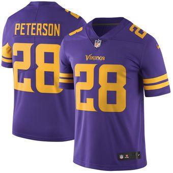 9193c5acdd3 Minnesota Vikings  28 Adrian Peterson Purple Color Rush Limited Jersey