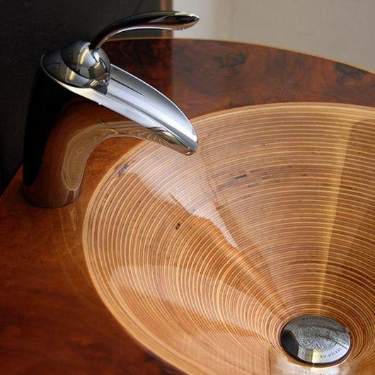 Elegant Wooden Sinks By Markus Horner