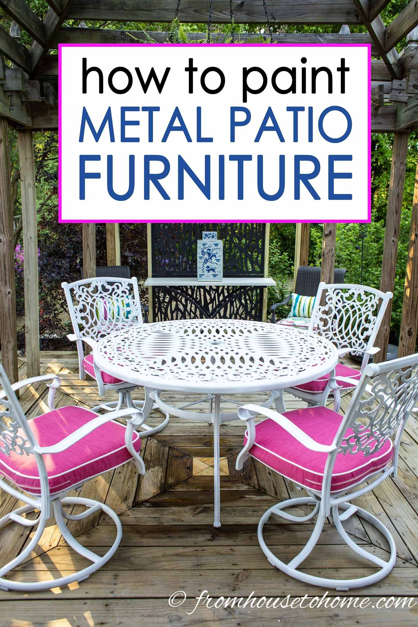 How To Paint Metal Patio Furniture Painted Outdoor Furniture