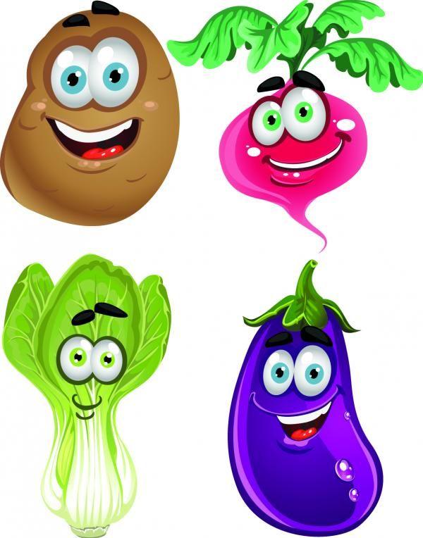 ภาพเวกเตอร ผ ก การ ต น น าร ก Vector เวกเตอร Fruits And Vegetables ผ กผลไม Vegetable Cartoon Funny Vegetables Cartoons Vector
