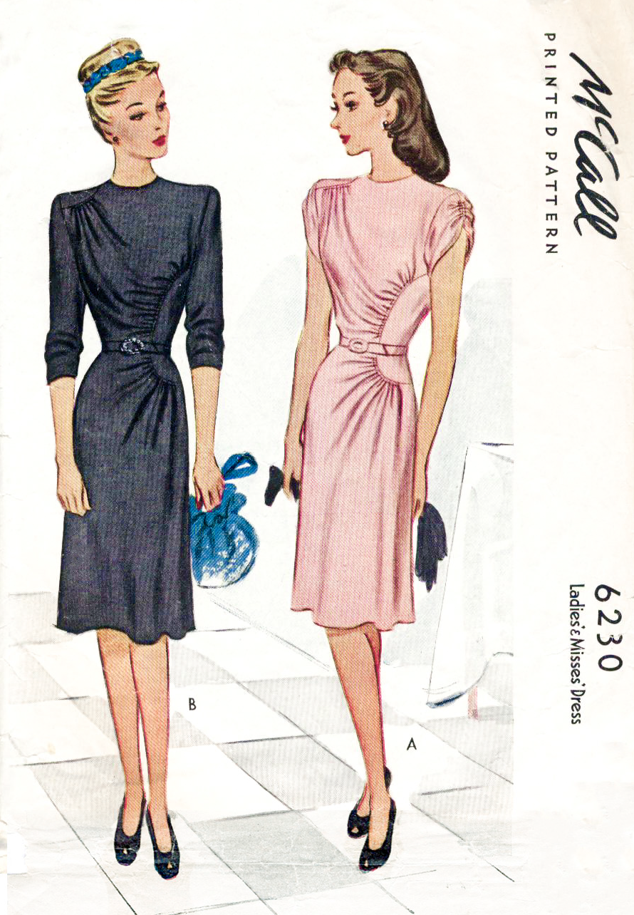 1940s dress vintage sewing pattern McCall 6230 | 1940\'s Style ...